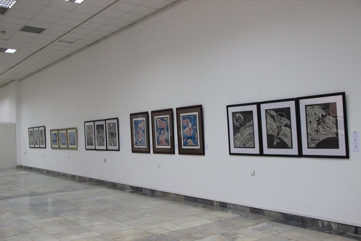 Экспозиция работ Батухана Баймена.