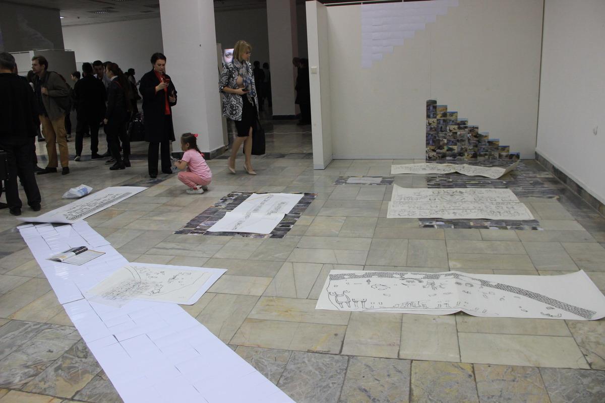 "Мунира Султанова (Узбекистан) Проект ""До и после"", инсталляция"