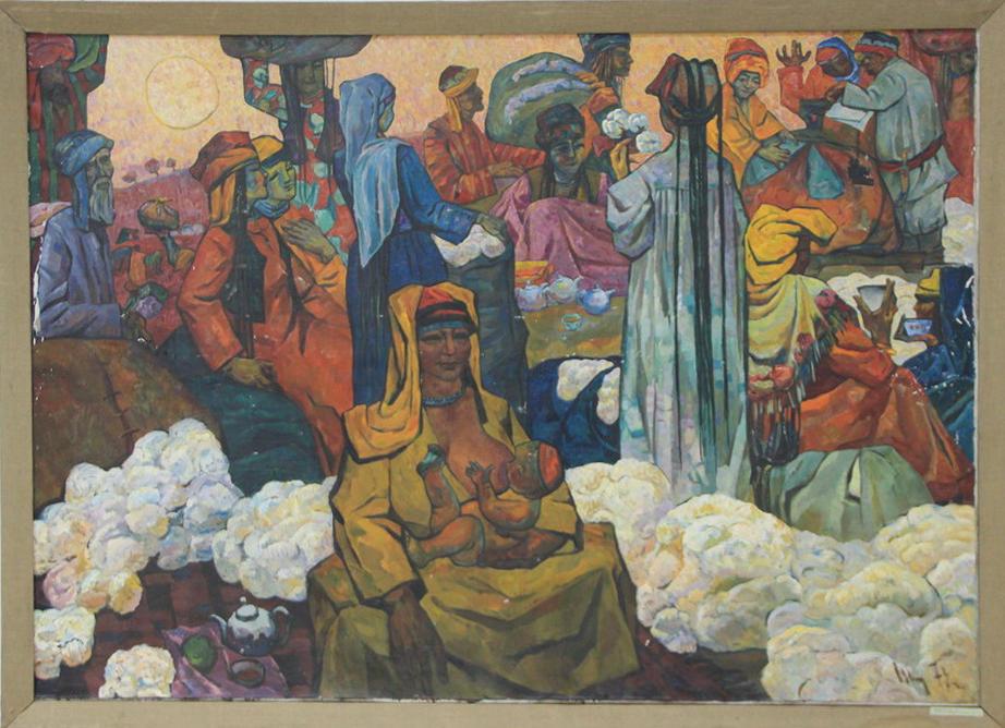 Николай Шин. Дехкане. Центральная часть триптиха. 1974