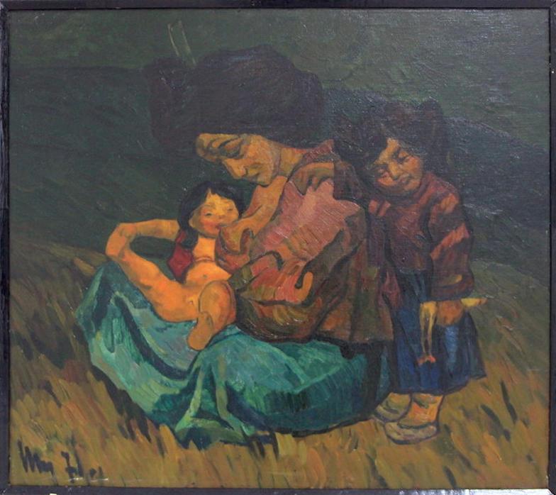 Николай Шин. На чужбине. 1971.