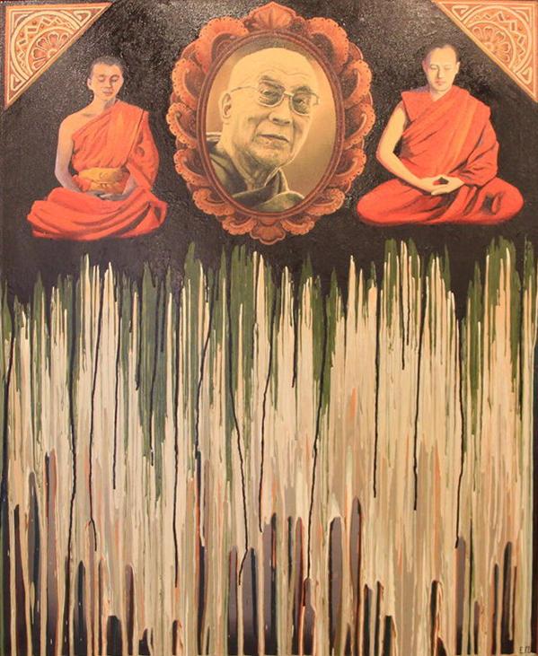 Панов Евгений. Далай лама. коллаж.