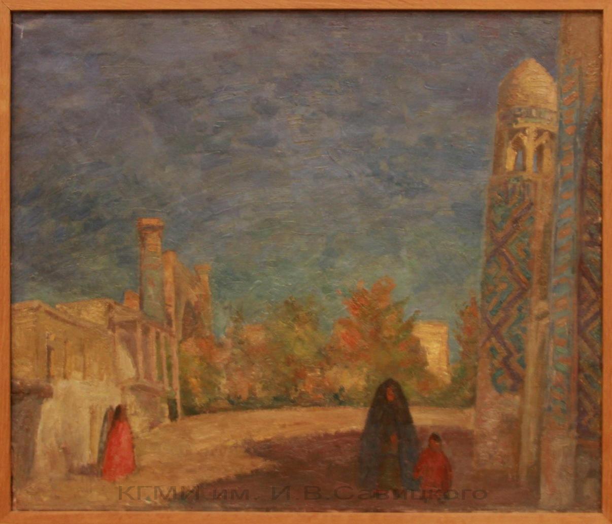 Фальк Р.Р. (1886-1958). На площади в Самарканде 1 половина 20 века.