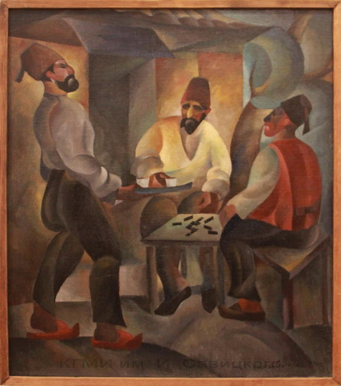 Григорьев Н.М. (1890-1943). У кофейни. 1920