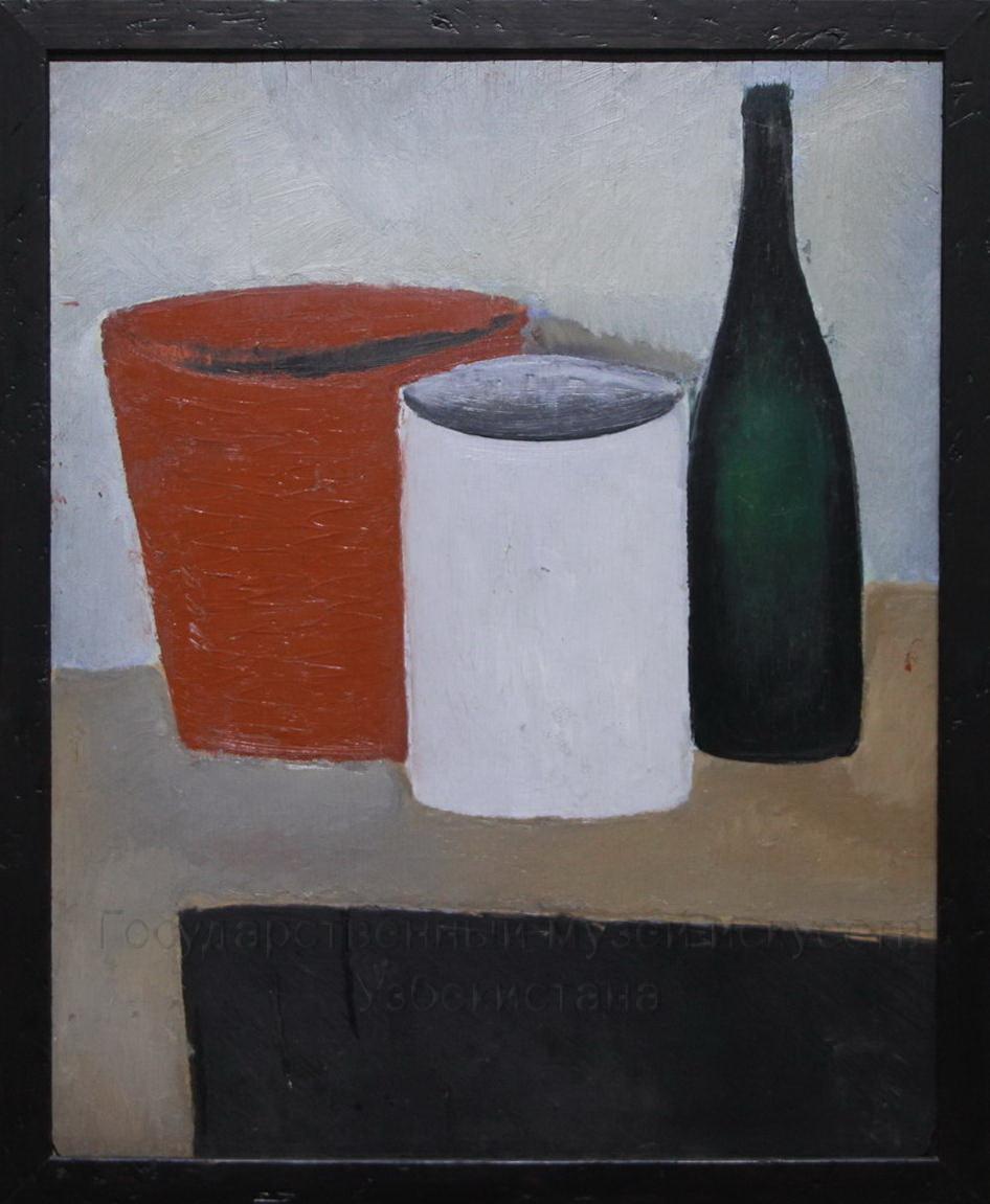 Иванов А.И. (1896-1958). Ведро и бутылка. 1917