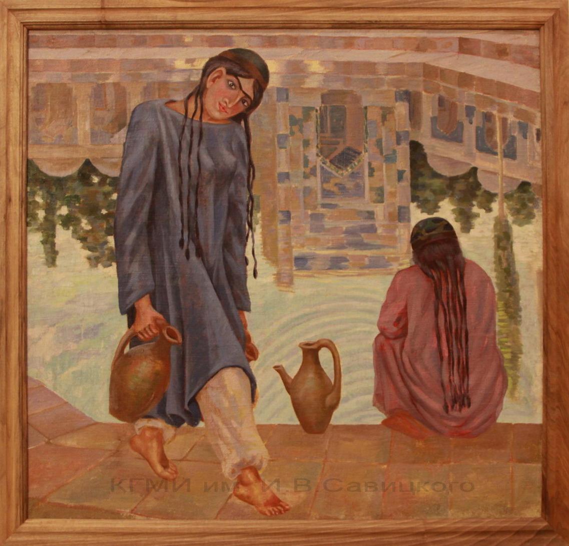 Карахан Николай. (1900-1970). Девушка у хауза. 1-я половина 20 века