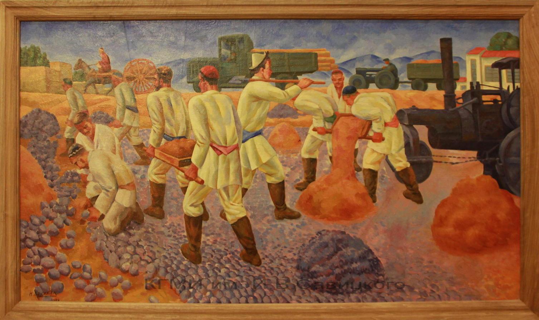 Карахан Николай. (1900-1970). Строительство дороги.