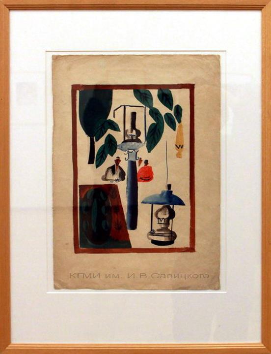 Курзин М.А. - (1888-1957). В чайхане. 1-я половина 20 века