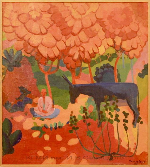 Тансыкбаев У.Т. (1904-1974). Багрянная осень. 1931.