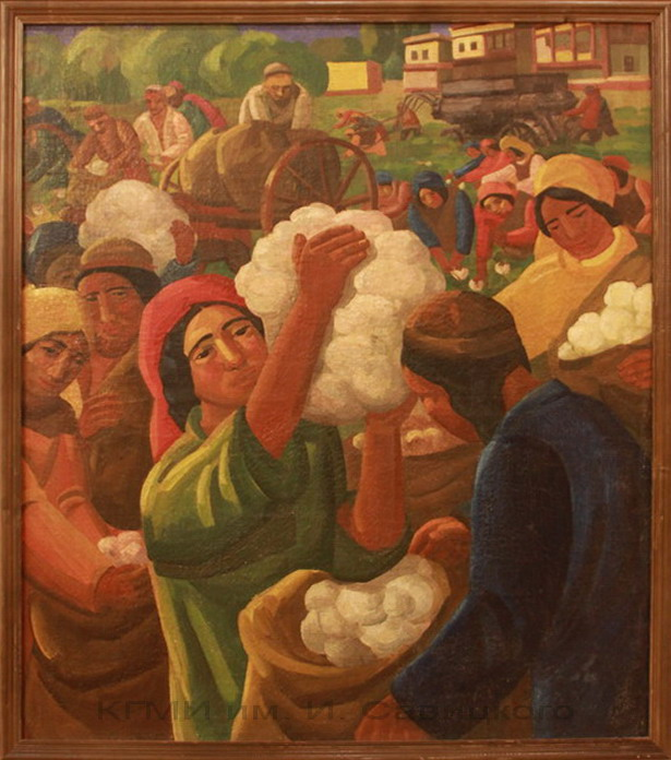 Волков А.Н. (1886-1957), Сбор хлопка. 1-я половина 20 века.