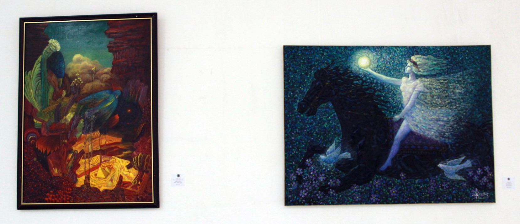 Х. Джалилов Экспозиция картин.
