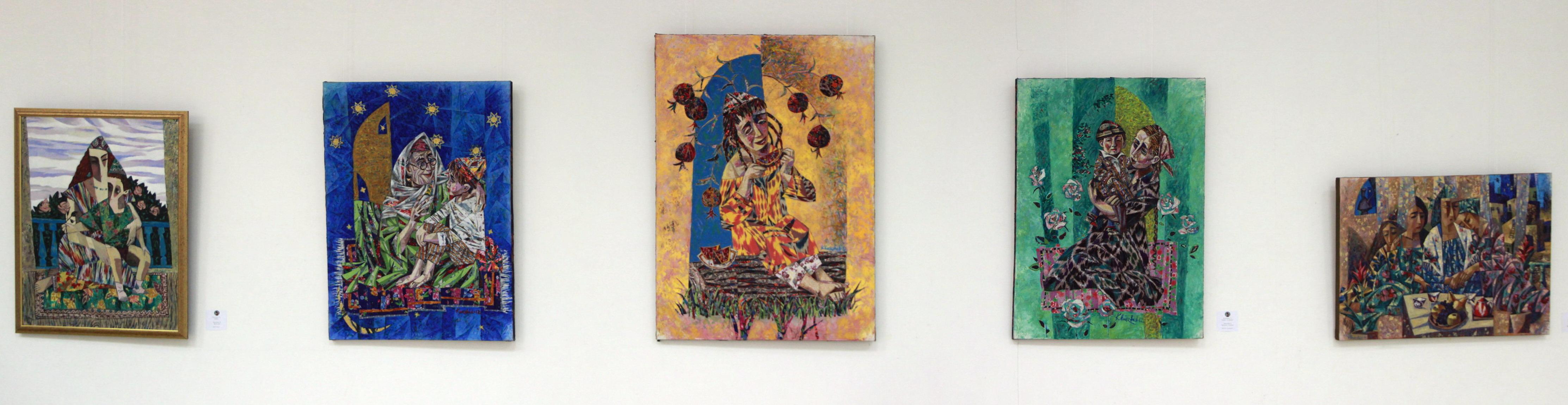Хуршид Зияханов Экспозиция картин.