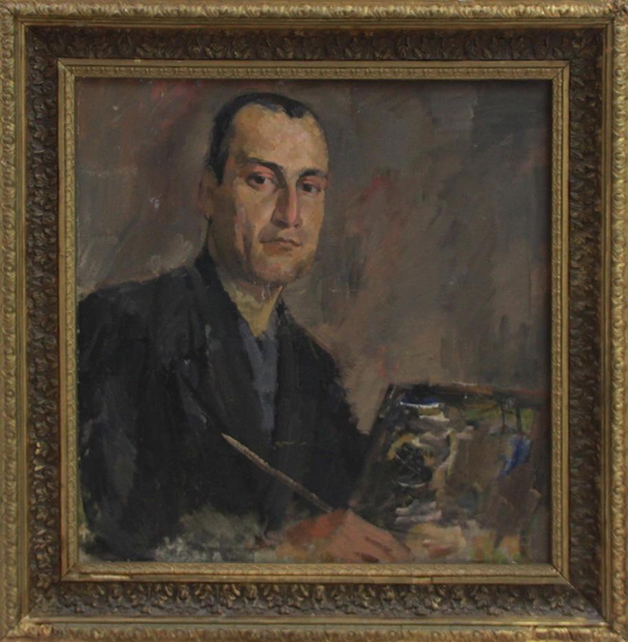 Еремян В. Портрет художника Р.Тимурова. 1940. (ДХВ). Дар Р.В. Еремян.