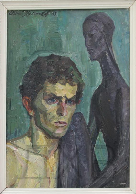 Евгений Мельников. Портрет скульптора Шапиро. (ДХВ) Дар автора.