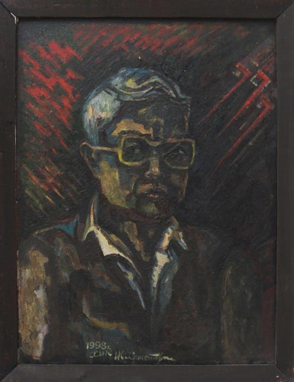 Кан Х. Портрет раздумье. 1998 (ДХВ)