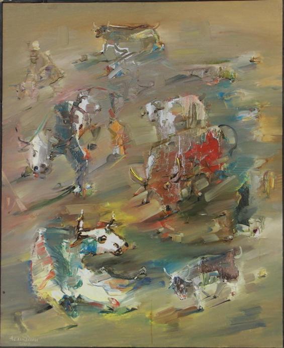 Аслиддин Исаев. Бой быков. 2000