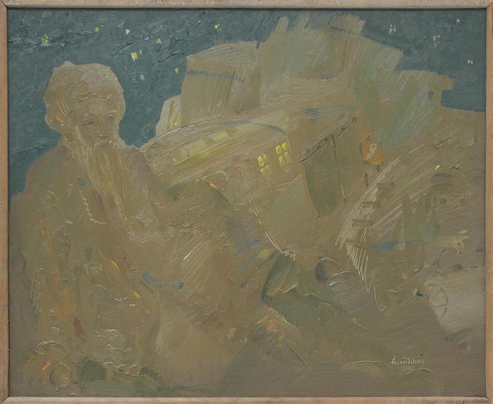 Аслиддин Исаев. Раздумье. 1987