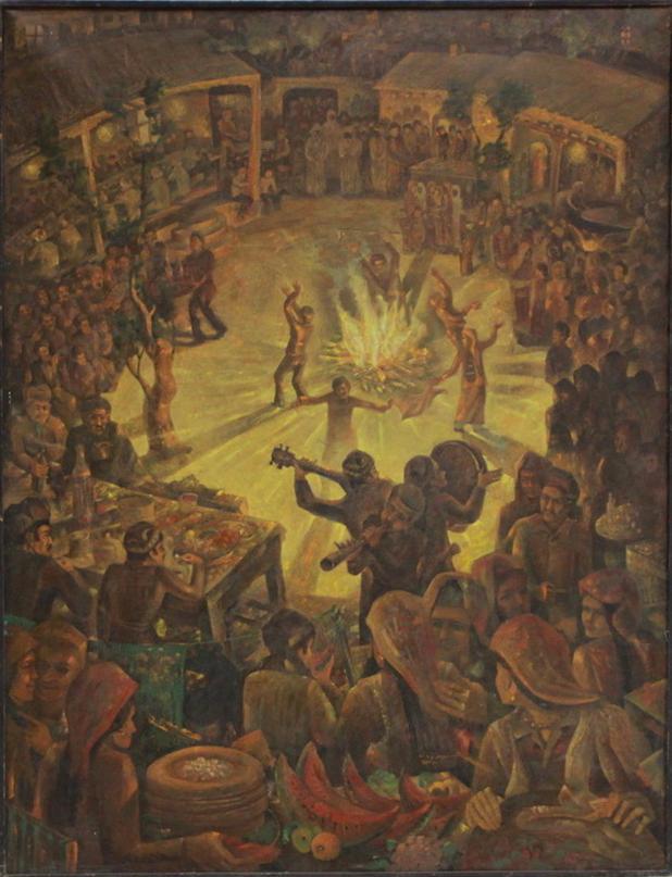 Аслиддин Исаев. Сельский праздник. 1983-84