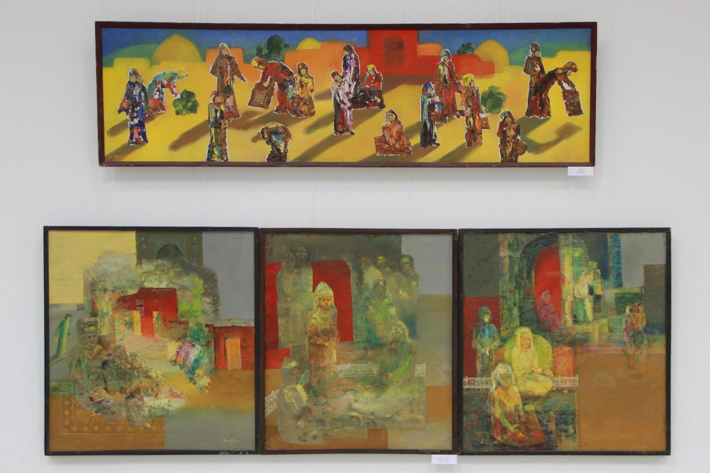 Аслиддин Исаев. Женщины. 1990, Триптих _Невеста_. 1994