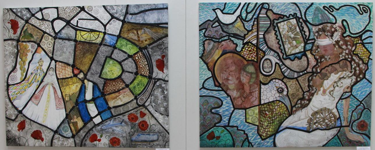 Экспозиция картин. Марии Ли-Сафи