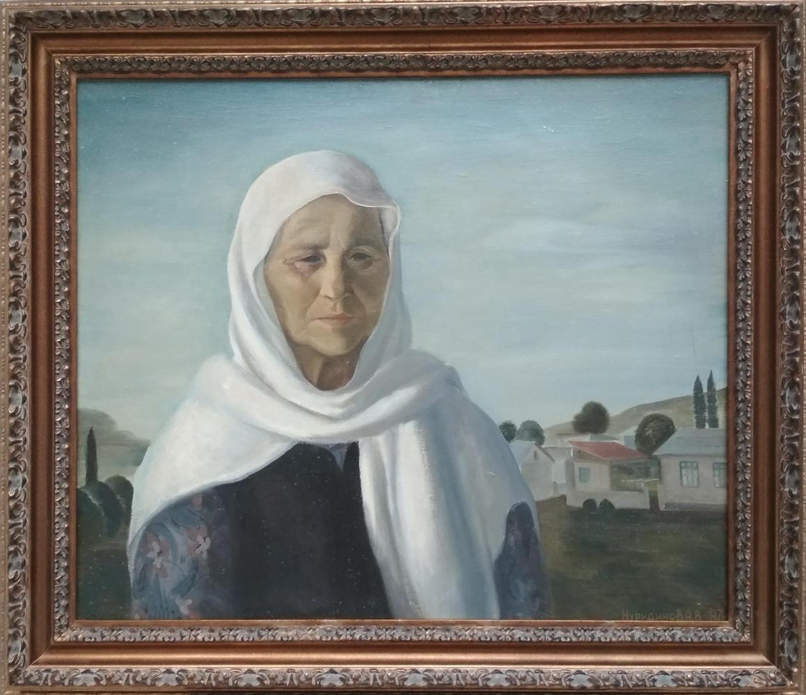 Акмаль Нур. Портрет матери. 1987