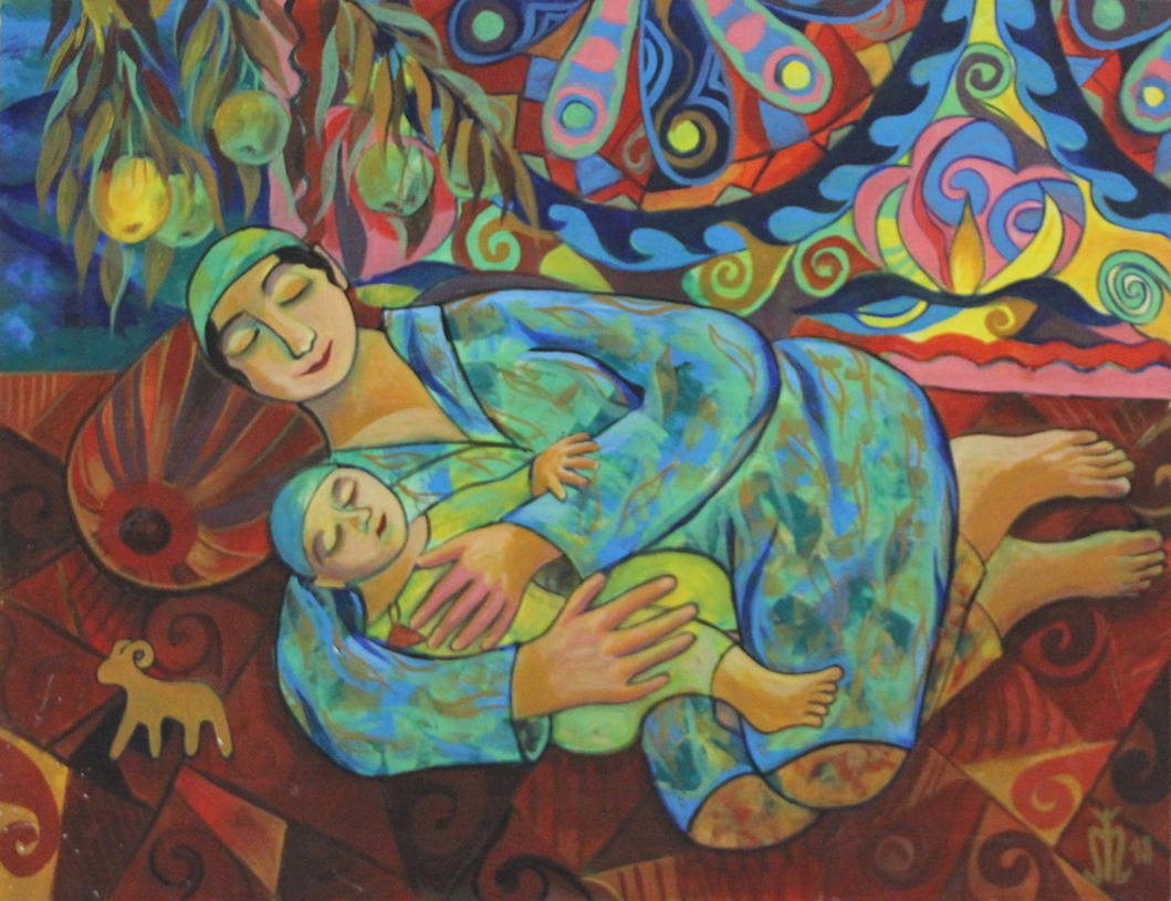 Жалолова Г. Мадонна с младенцем. Сон в летнюю ночь. 2018