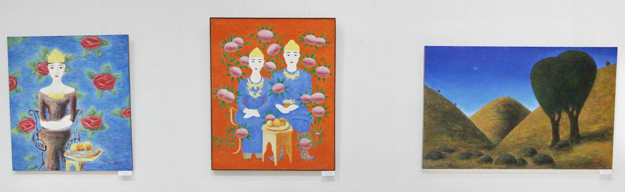 Экспозиция картин Гафура Кадырова