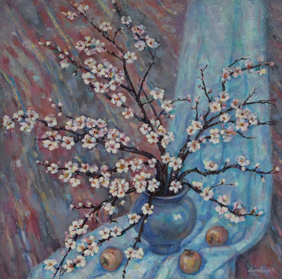 Оксана Залевская. Натюрморт с цветущей веткой. 2006