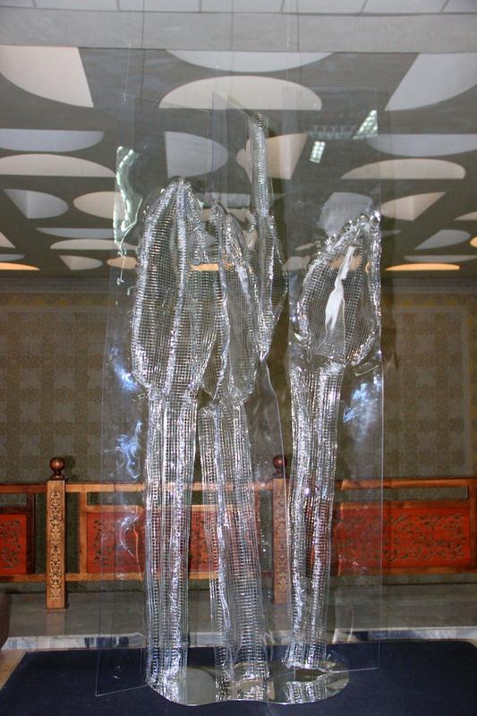 Бородина Марина. Ледяной дождь. 2020. инсталляция 1
