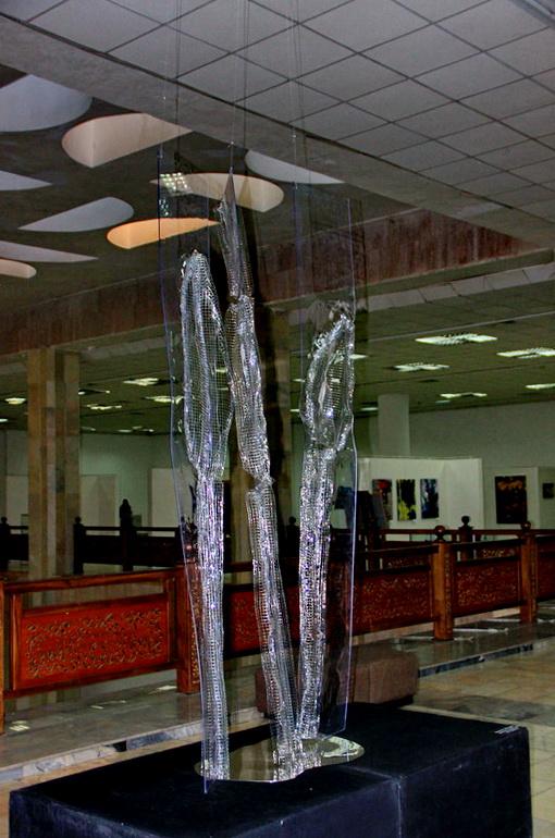 Бородина Марина. Ледяной дождь. 2020. инсталляция (2)