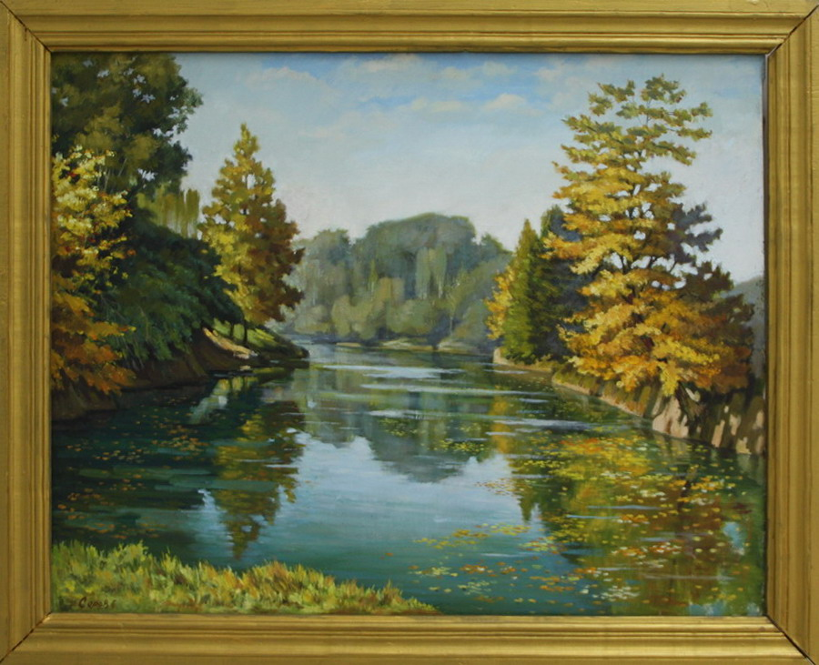 Серов Геннадий . Возле пруда. 2007