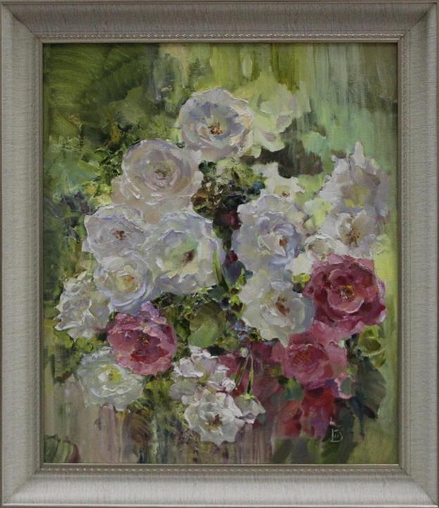 Трошина Виктория. Белые розы весны. 2020