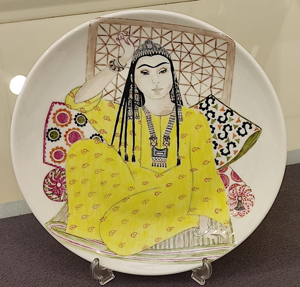 Римма Газалиева Авторская роспись по фарфору 7. Росписная тарелка