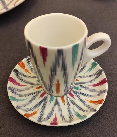 Римма Газалиева Авторская роспись по фарфору 9. Чашка для кофе и блюдце