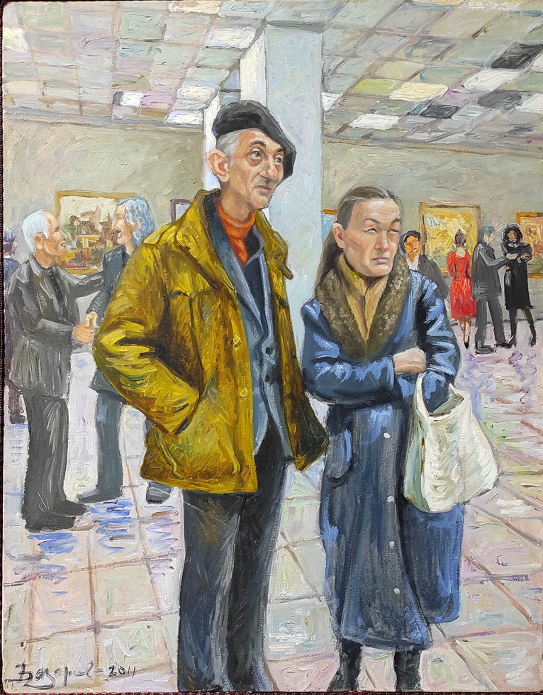 Рустам Базаров. На выставке