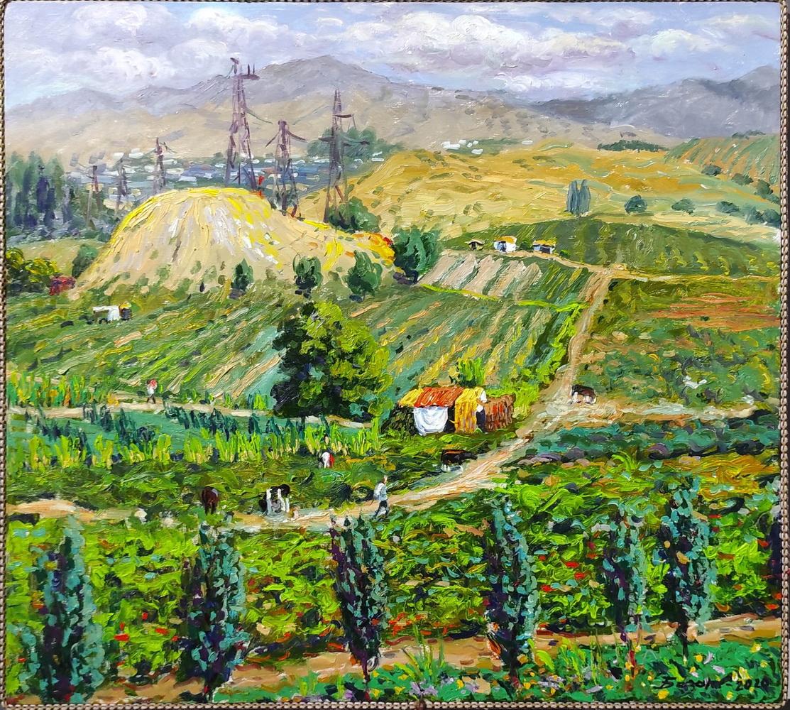 Рустам Базаров. Паркентский пейзаж. 2020