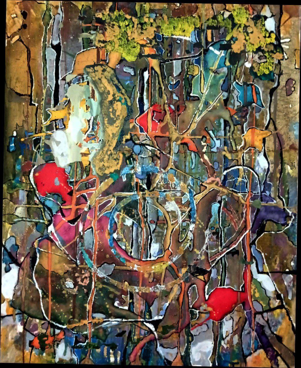 Панно «Беспредметная композиция». 2007 г