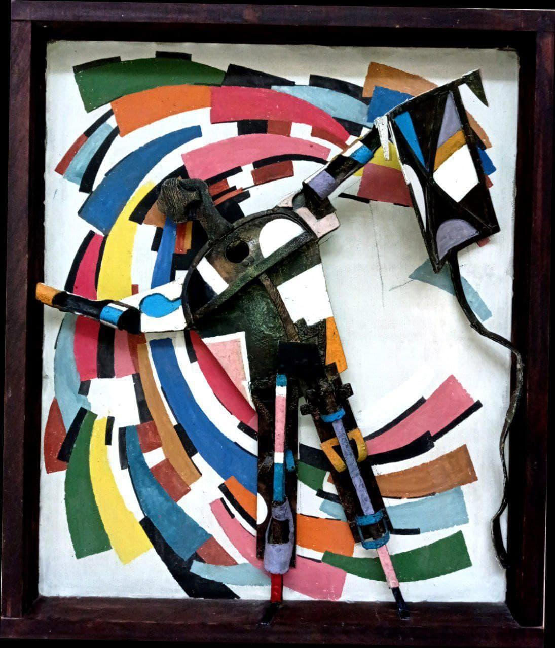 Панно «Цветной ветер». 2011 г