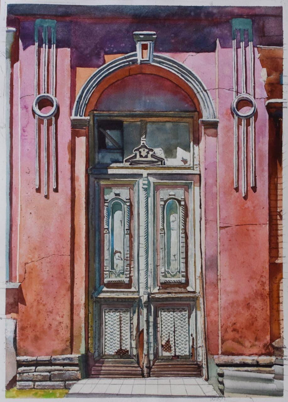 Старая дверь на Дархане. 2020