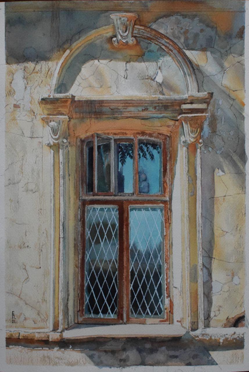 Старое окно. Дархан. 2021