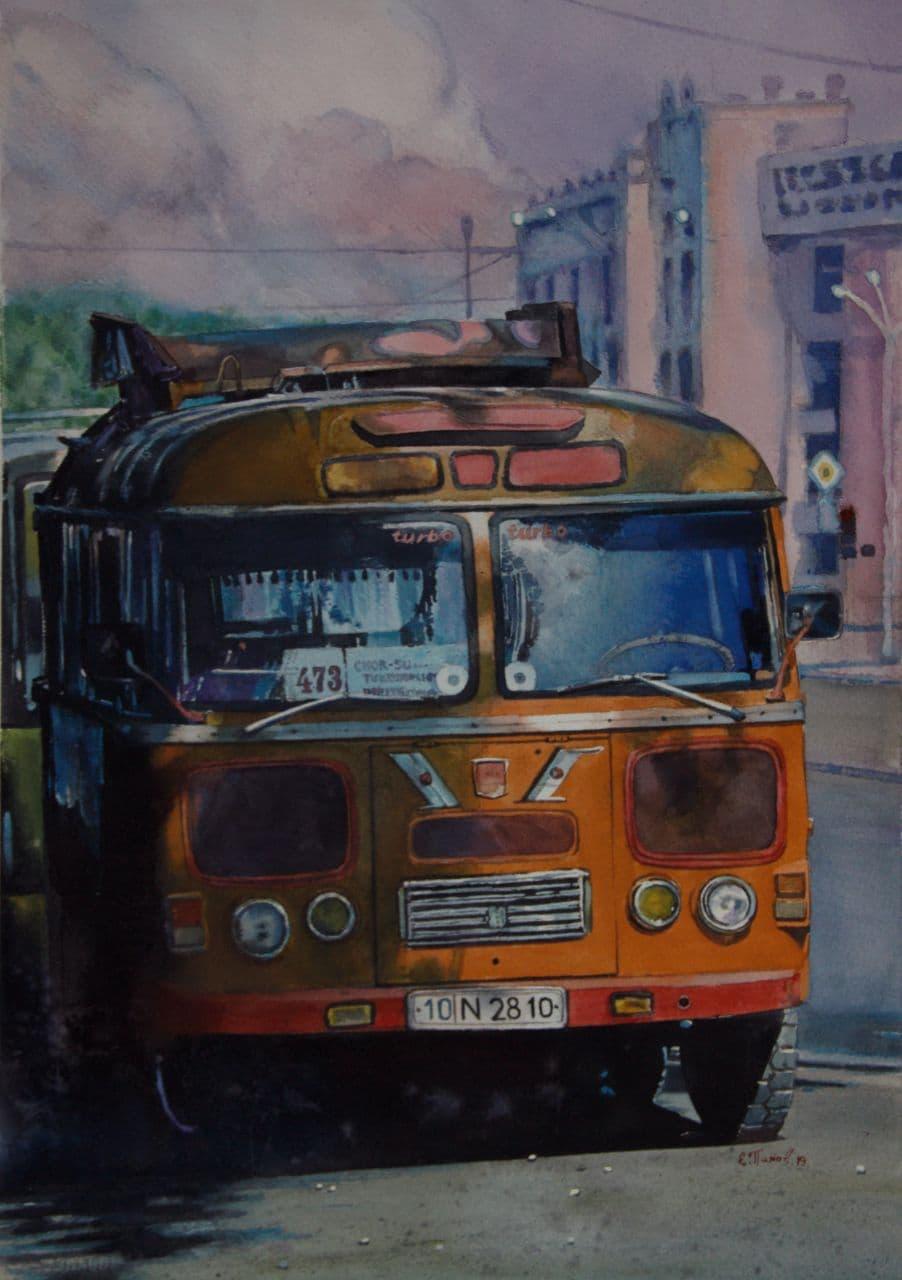 Старый автобус. 2020