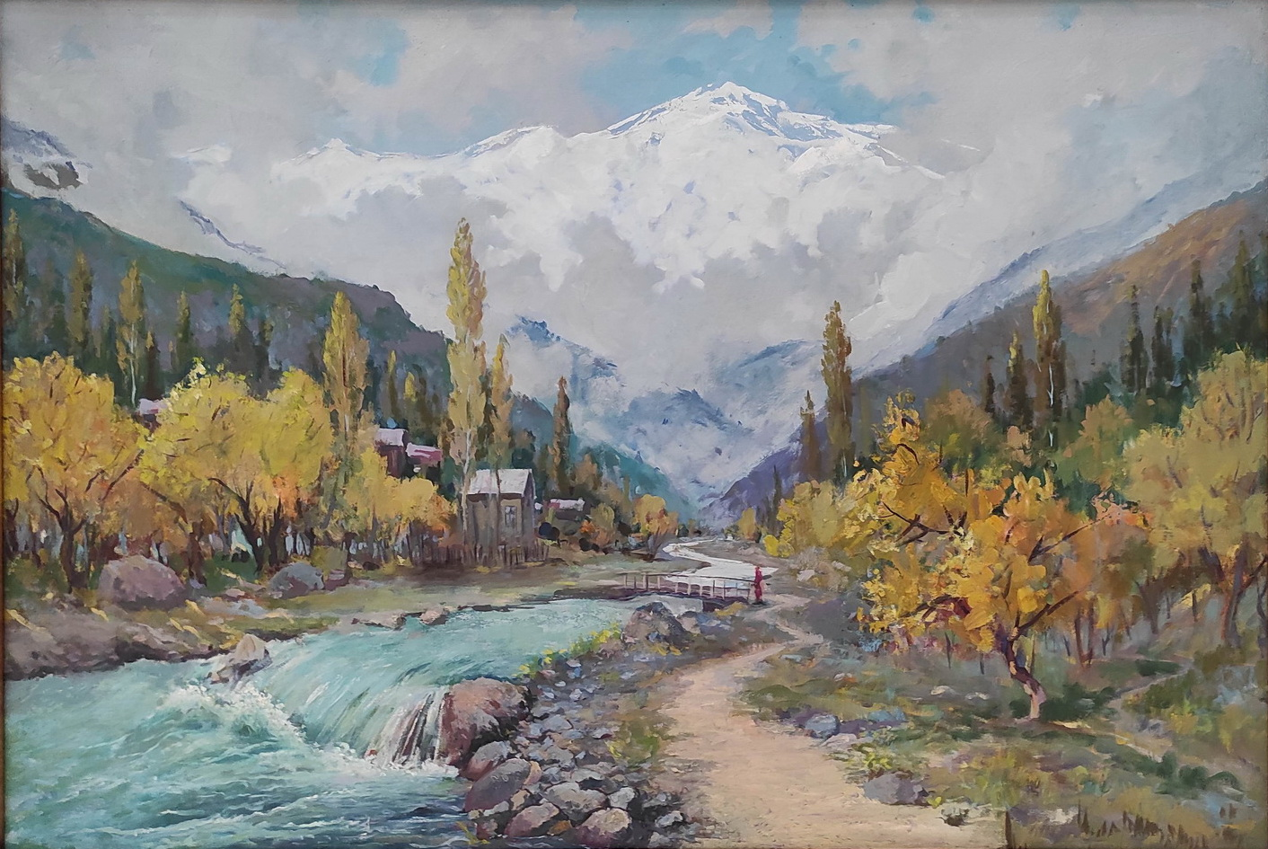 Рахматуллаев С. Осенний пейзаж. 2020 (Коканд)